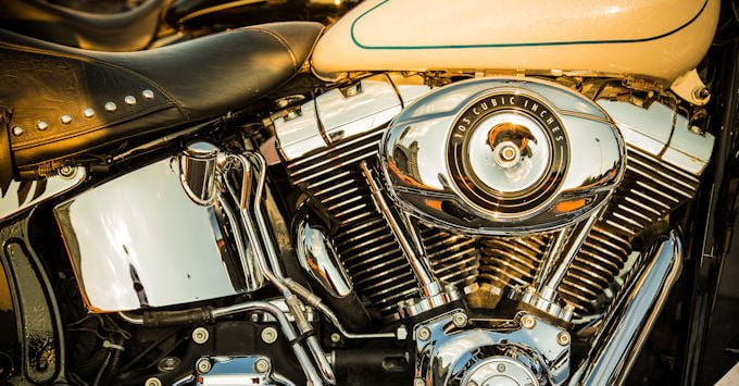 A Harley Davidson engine